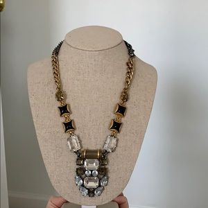 Stella and Dot hematite And gold necklace